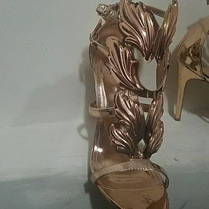 c09e696ca4c Windsor Shoes - Rose gold winged goddess heels
